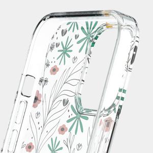 iPhone 12 Mini Hülle Klar Blumen Flower iPhone 12 Mini Hülle TPU Transparent Handyhülle Blume