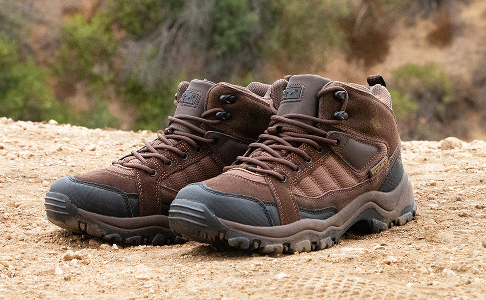hiking boots boot shoes shoe outside outdoors adventure leather lace up mens men