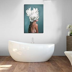 Women Wall Art Bathroom Decor