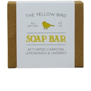 the yellow bird charcoal soap face and body