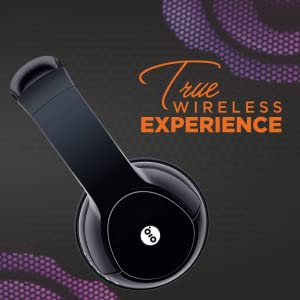 GIZMORE Wireless Bluetooth Headphone with 200 Hours Stand by time and Precision Bass (Black)