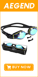 Adult Swim Goggles with 3 Adjustable Nose Pieces