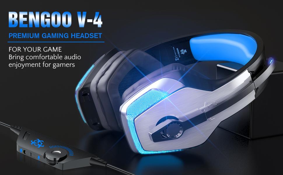 BENGOO V-4 Professional Gaming Headset