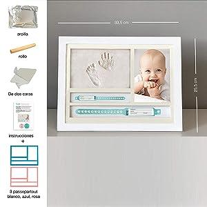 muby, huella bebe pie y manos, regalos para padres primerizos,kit huella bebe,regalo mama primeriza