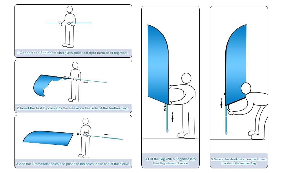 Flagpole installation steps
