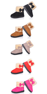 Baby's Girl's Cute Bowknot Snow Boots