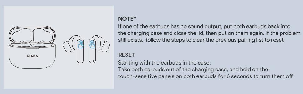 wireless earbuds note