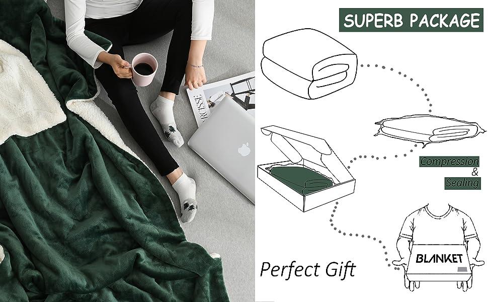 sherpa reversible blanket