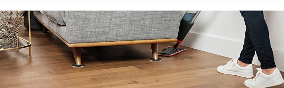 Super Sliders foam pads securely holds your largest couch, allowing easy movement for cleaning.