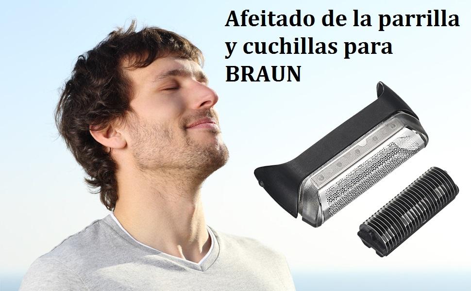 Anself Afeitadora Afeitadora de la Parrilla de Afeitar y Cuchillas para BRAUN 10B Series 1 190 180 170: Amazon.es: Belleza