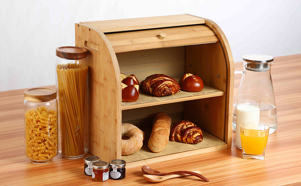 Bamboo Bread Boxes