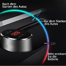 Zigarettenanzünder USB Ladegerät Quick Charge 3.0 KFZ Auto 12v
