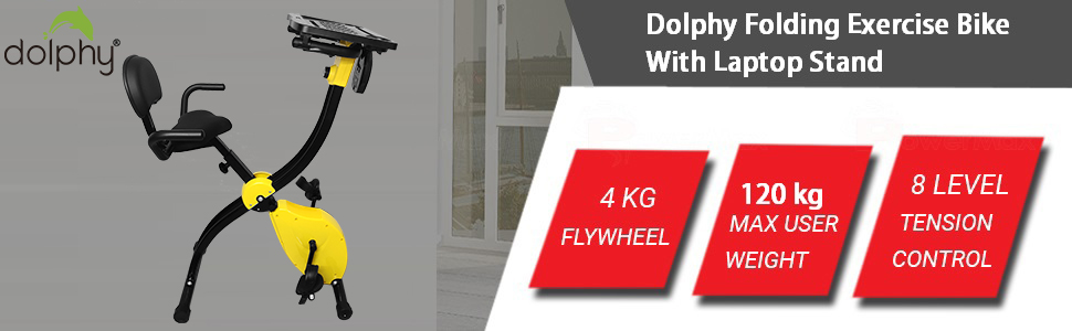 Dolphy Folding standing Exercise X desk Bike fitness Spinning Indoor Cycling for Home Gym