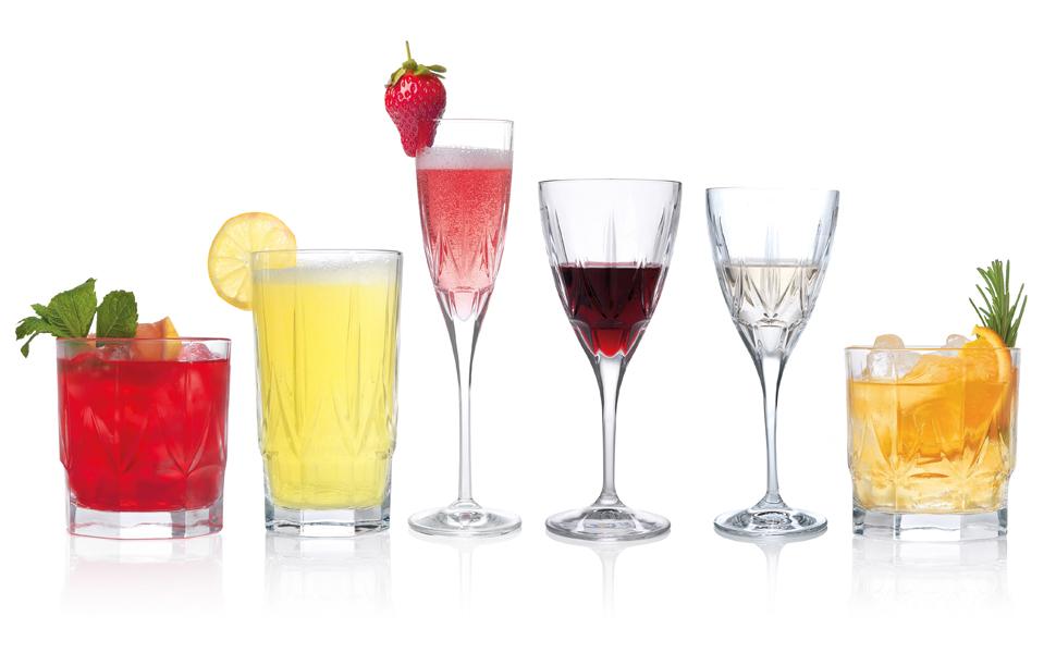 Wine glass collection, RCR wine glass collection, beautiful wine glasses, wine glasses for occasions