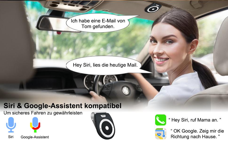 Siri & Google-Assistent Kompatibel
