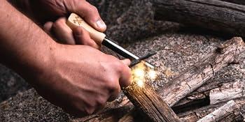 bushcraft survival gifts ferro rod flint and steel fire starting sticks men man camping hiking