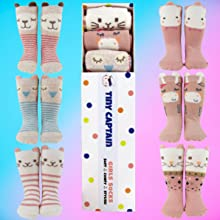 gift set birthday age 1 age 2 3 yr old 6-12m 0-3m wont come off stays on slipper socks shoes box