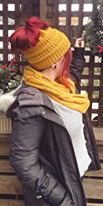 beanietail and scarf