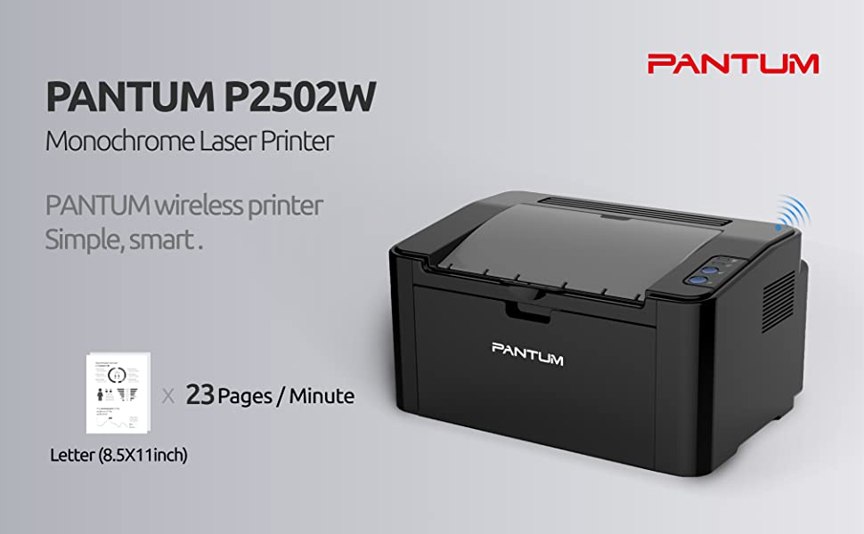 Pantum Monochrome Laser Printer with Wireless Networking and Mobile Printing P2502W