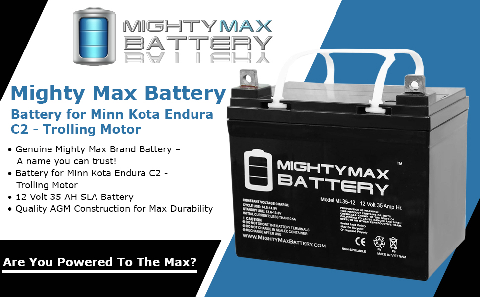 Amazon.com: Mighty Max Battery 12V 35AH SLA Battery for Minn Kota
