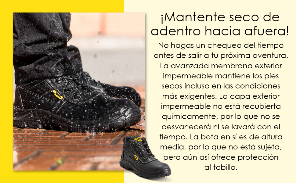 Cómodos zapatos de seguridad para un ajuste cómodo