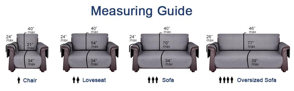 sofa cover size