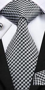 Houndstooth ties for men