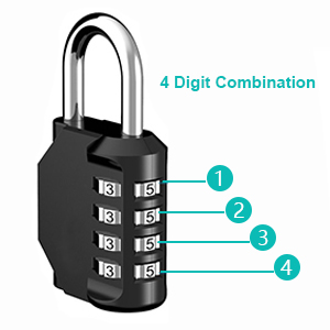 4 digit combination locks locker code padlock number padlock combo padlock dial resettable