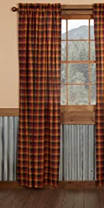 Heritage Farms Curtains primitive country rustic Americana VHC Brands window panel valance swag