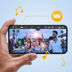 MV mode, record video with music like a short MV