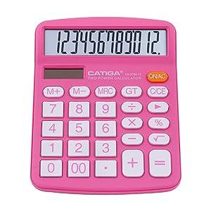calculator office desk portable large display math add calculation solar battery sensitive LCD home