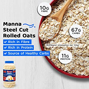 Manna Oats are Rich in Fibre, Rich in Proteins and Source of Healthy Carbs