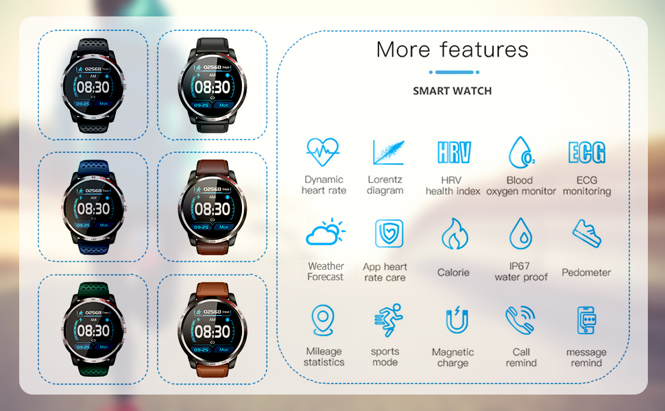 Not Only a Smart Watch, But Also a Health Monitor and Fitness Tracker!