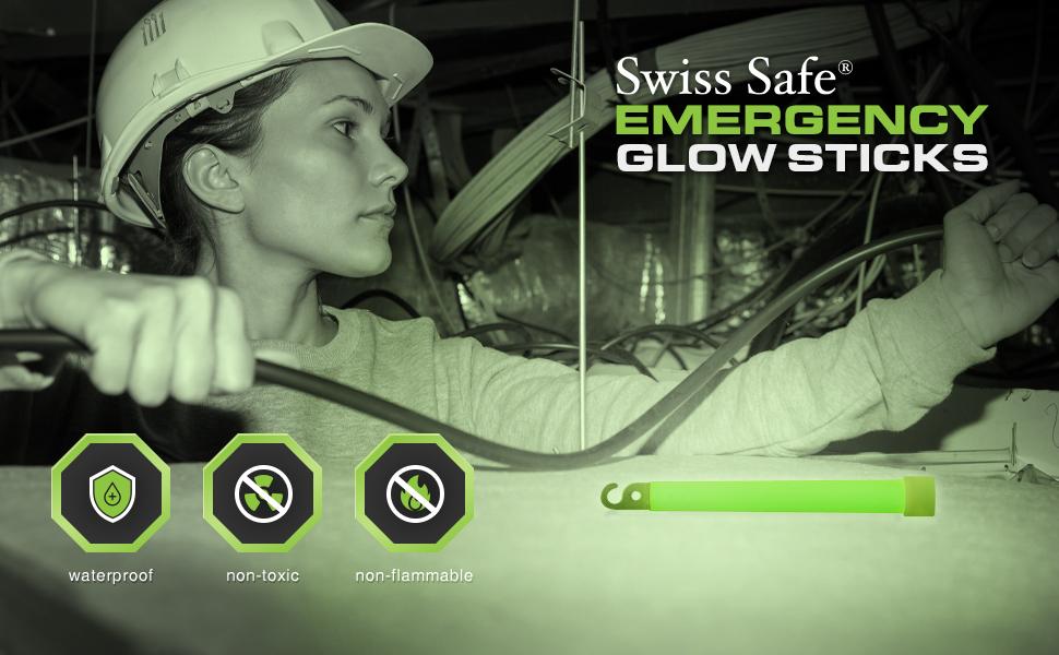 Swiss Safe Emergency Glow Sticks - Industrial Photo