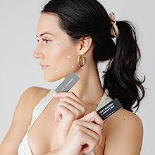 August + Monroe girl spot treatment black pen bra