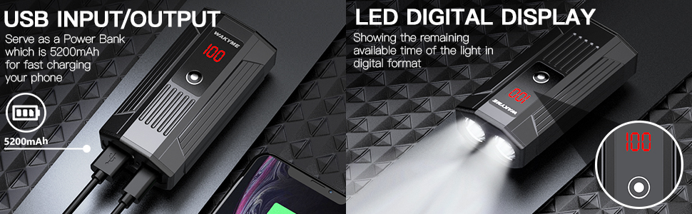 Power Bank Function and LCD Display