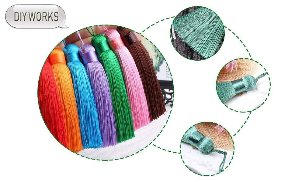 Arts, Crafts & Sewing Tassels ghdonat.com 10pcs-6.3in COCOScent ...
