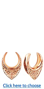 LY6029 Saddle Tunnels Plugs Hangers for Stretched Ears A+