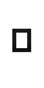 8x10 for 5x7 pre cut black mat