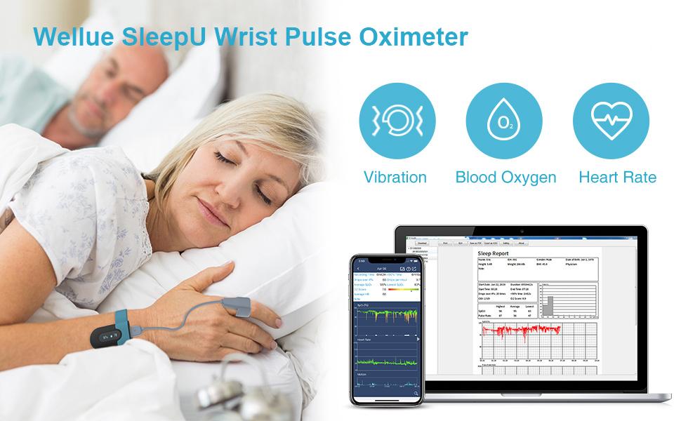 Wellue SleepU Wrist Pulse Oximeter