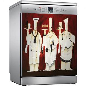 Sticker dishwasher fridge deco appliances mountain ref 497 60x60cm