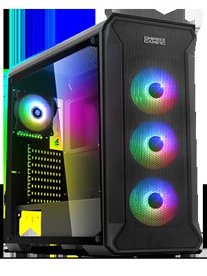EMPIRE GAMING – Caja PC Gamer Darkwitcher ARGB Torre Mediana ATX – Frontal Metal Mesh y Pared Lateral de Vidrio Templado – 4 Ventiladores 5 Voltios PWM LED RGB direccionables 120 mm: Amazon.es: Electrónica