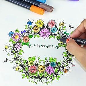 dual tip watercolor pen