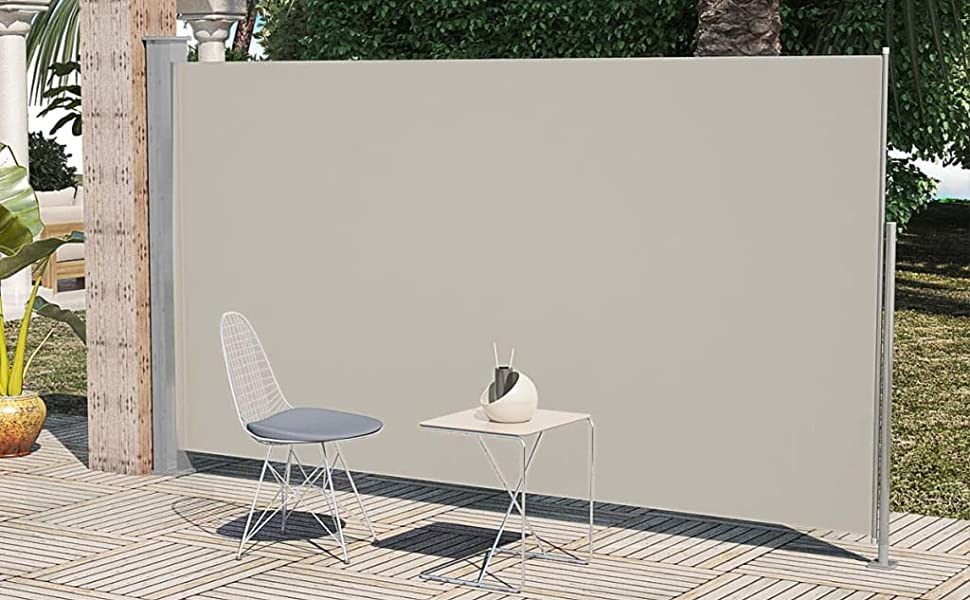 """Retractable Side Awning 63/""""x196.9/""""Gray"""