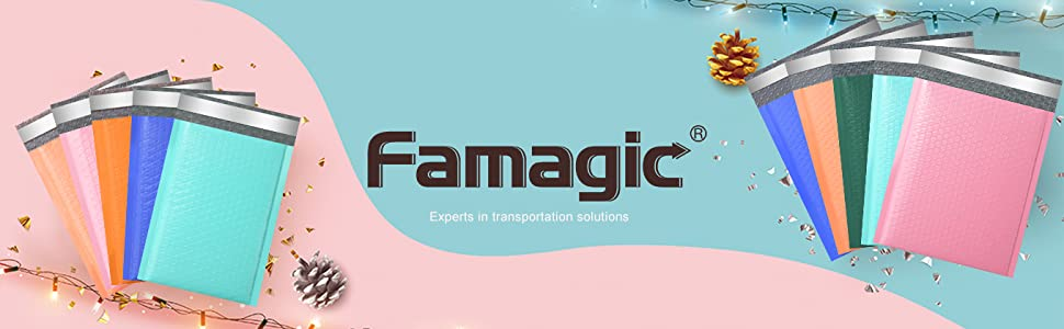 Famagic Black bubble mailers