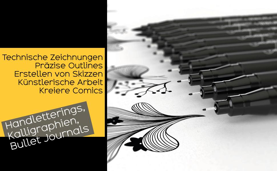 kalligraphie set schneider kugelschreiber fineliner set stabilo buntstifte zeichenstifte