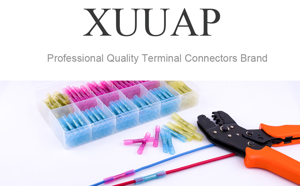 XUUAP heat shrink butt wire connectors