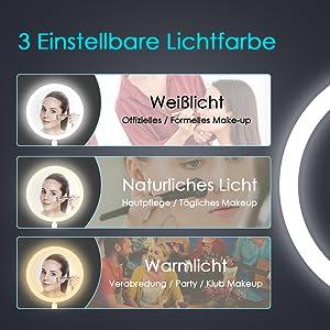 Schminkspiegel mit Licht kosmetikspiegel mit LED Wandspiegel make up spiegel Reise Spiegel
