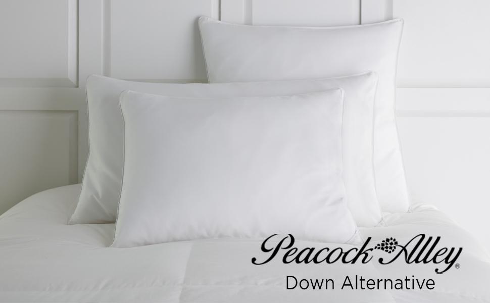 cotton bed down alternative peacock alley pillow duvet mattress topper