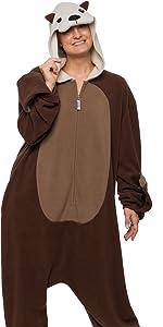 Otter brown costume onesie water marine jumpsuit